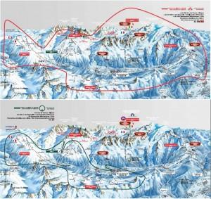 Ski areas and lift pass areas Chamonix