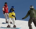 snowboarders learning