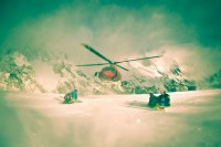 Courmayeur helicopter shot