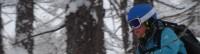 Tree skiing Courmayeur